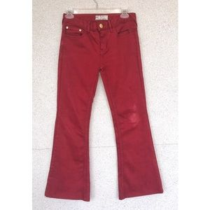 FREE PEOPLE - Red Flare Jeans